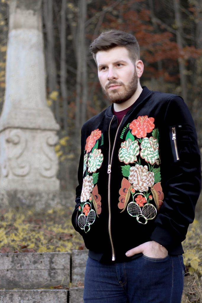 Scotch & Soda Black Velvet Bomber jacket