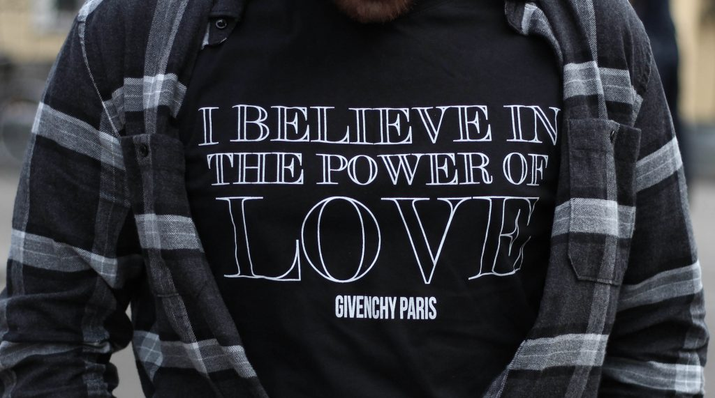Givenchy i believe in the power of love