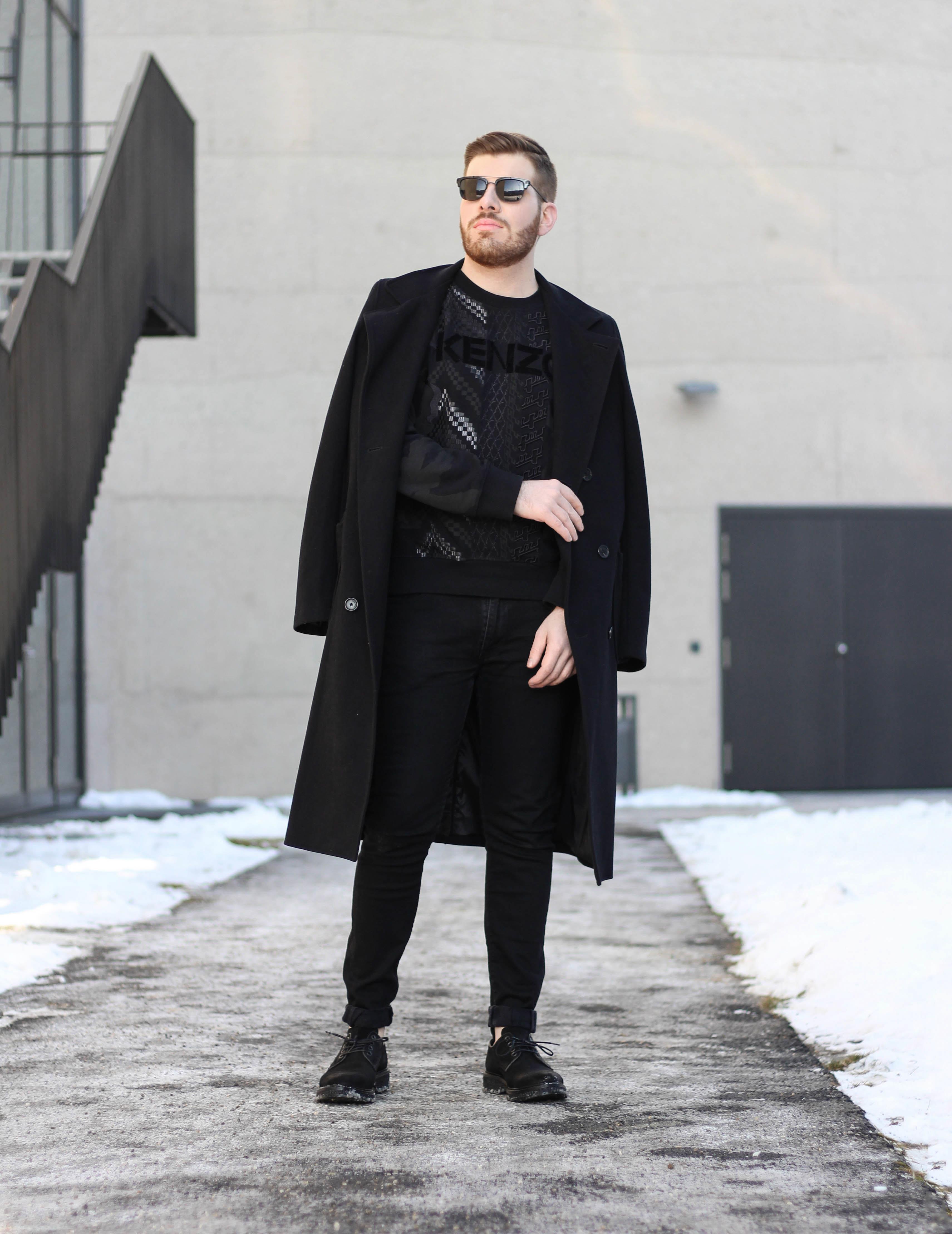 black sweater kenzo